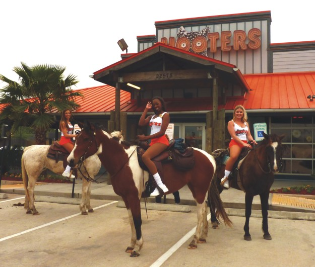 Hooters on horseback
