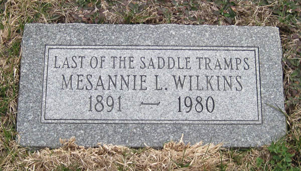 Mesannie Wilkins grave
