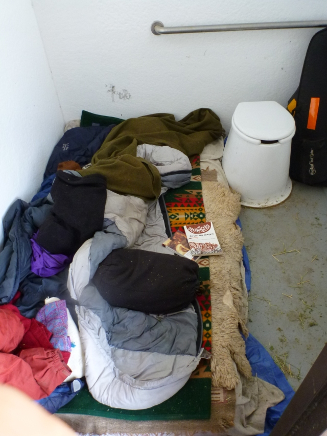 yup - slept in the BLM outhouse!